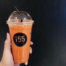 Love this Cha Yen (Thai milk tea) by @soififtyfive as it's less milky and a lot less sweet.