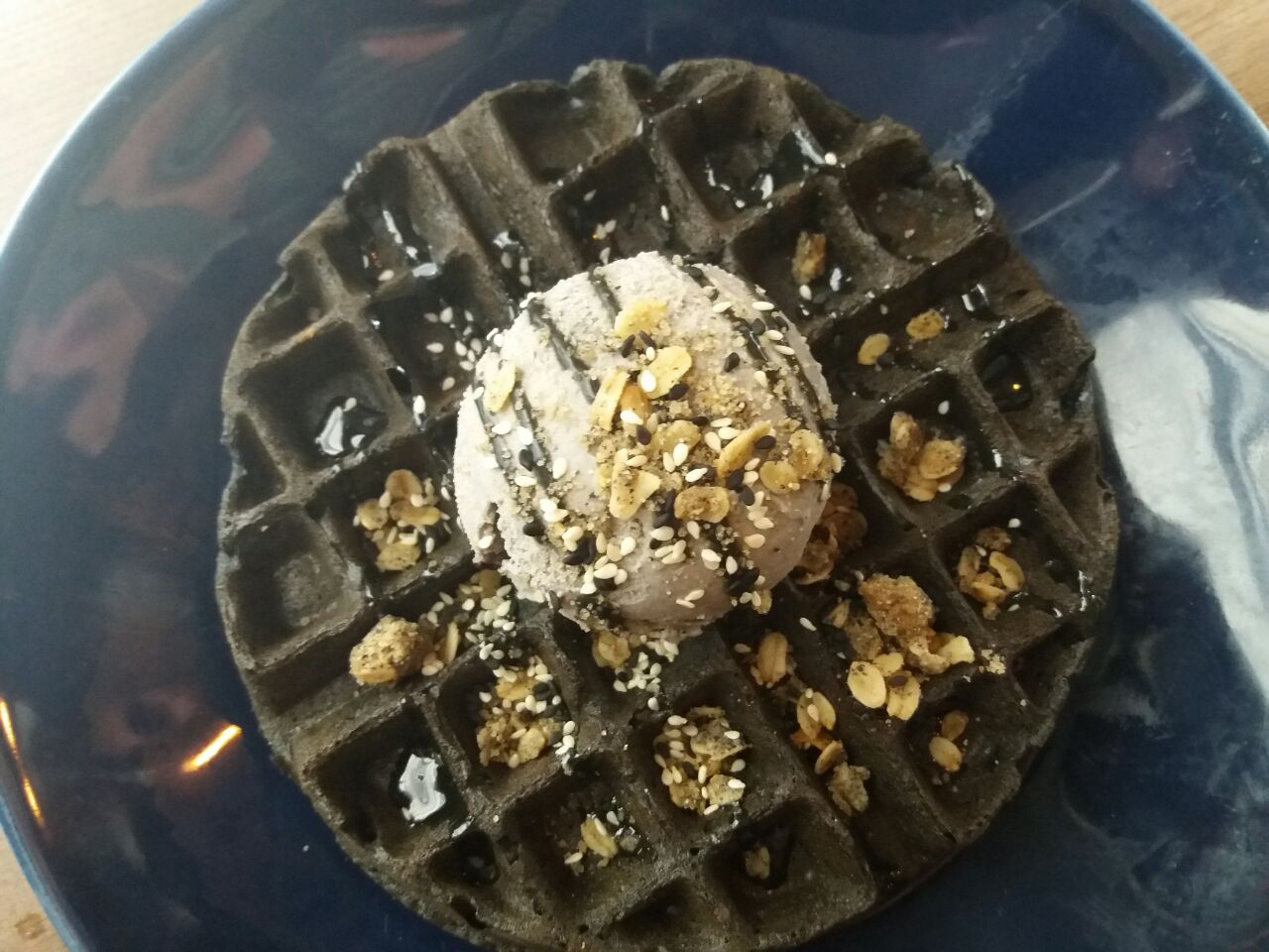 Black Velvet Waffle