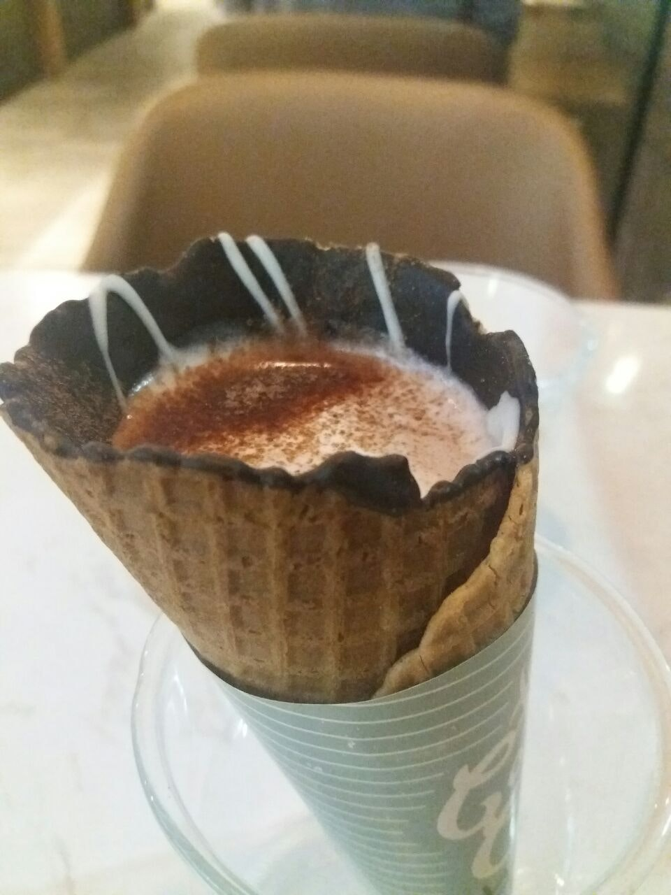 Hot Chocolate In Cone