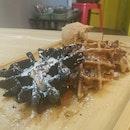 Triplet Snowflake Waffles ($13)