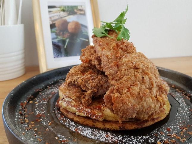 Chicken & Pancakes ($19)