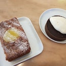 Sea Salt Chocolate Tart With Baileys Cream & Raspberry Cake With Lemon Curd ($12)