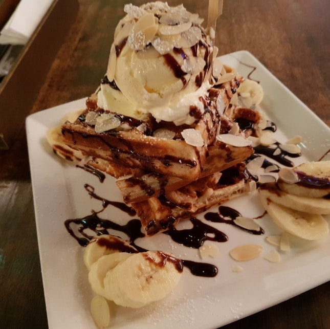 Chocolate Banana Waffles ($19)