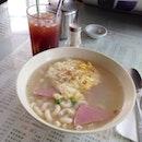 Ham And Egg Macaroni Soup