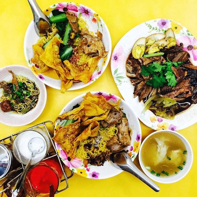 Thai wanton noodle for dinner!