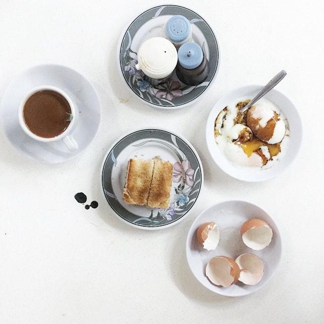 Eggs & kaya toast never goes wrong for breakkie