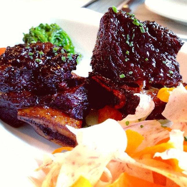 Spicy Kalbi Beef Short Ribs.