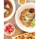 Beef Sirloin Noodles (Dry), Pork Floss Fries