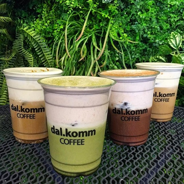 Cream Kiss series: Caramel Macchiato, Strawberry Matcha, Strawberry Chocolate, Vanilla Latte