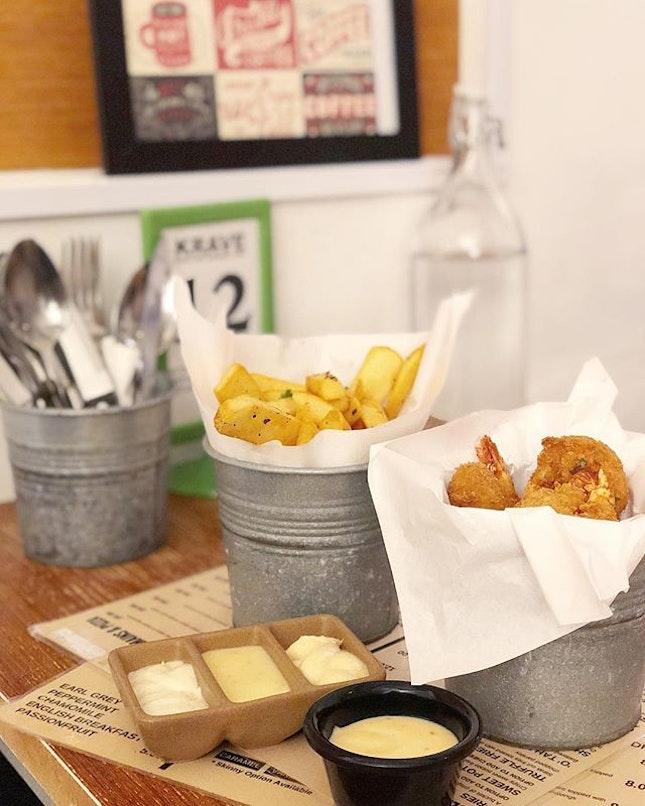Shrimp O'Nauts, Fries