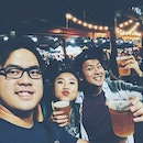 One of my favourite nights with my favourite boys doing my favourite kinda thing 😌 #BURP  #summernightmarket #beersandfriends #cheers #melbourne #nightslikethese #wefieplease
