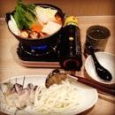 一个人的午餐 #lunch #japanesefood #hotpot #spicymisosoup #collagen #oyster #udon #mixvege #instafood #foodporn 🍵🍴🍲🍄🌱🐚🍜