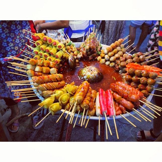Chilli and spice everywhere 😭😭😭😊😍 #latergram #happiness #soshiok #street #food #night #market