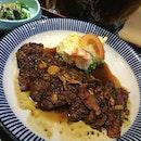 BFF @tingest's garlic steak!