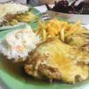 TGIF came in the form of this gigantic Cheesy Chicken Chop ($10.50), Cheesy Fish & Chips ($9.50) and Buffalo Wings ($9.50)!!