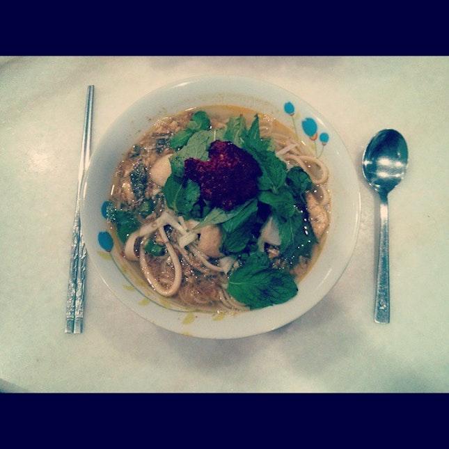 妈妈煮的 Pangkor Laksa 🍴😁 #foodporn #vscocam #bmcphotography #hometown #laksa #potd