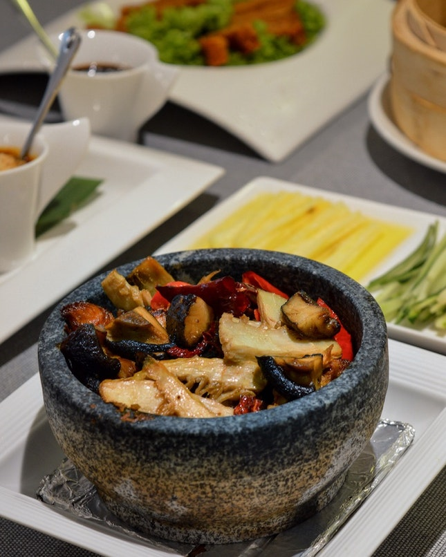 Braised Mushroom in Hot Stone Pot ($18.80)