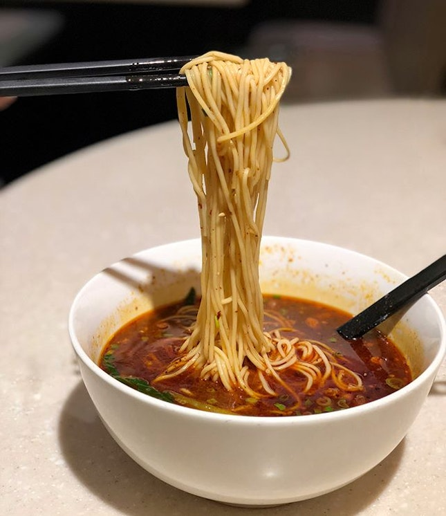#latenightcraving Chongqing spicy noodles ($8.80).
