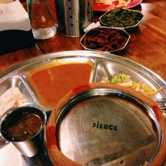 Dinner last night at Fierce Curry House.
