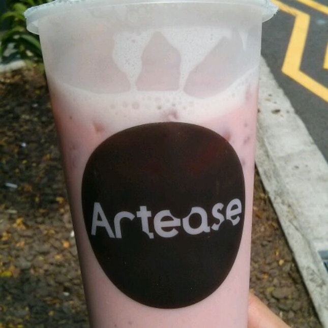 Strawberry Green Milk Tea