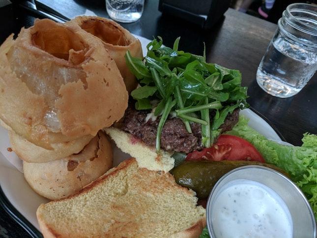 Greg Norman Blue Cheese Waygu Burger