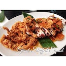 Giant Squid stuffed with minced meat and vegetable...