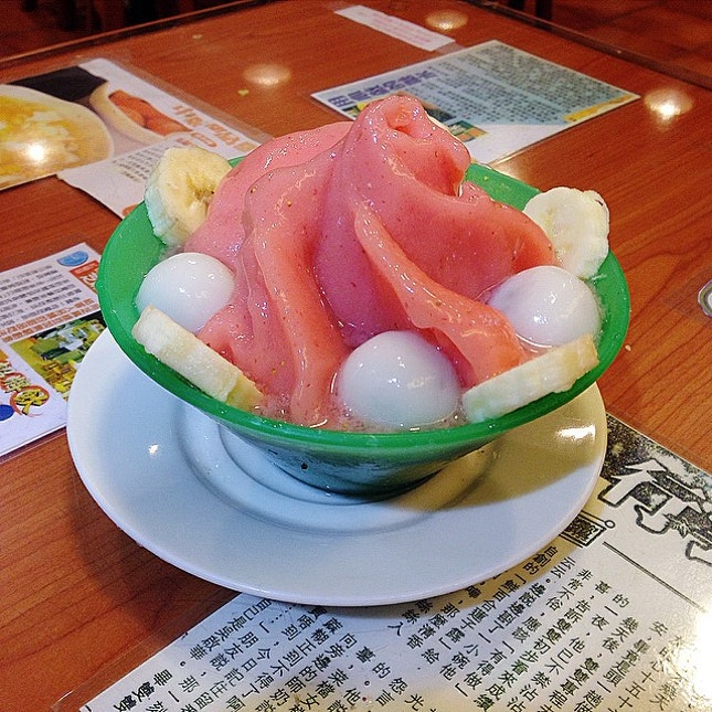期待已久嘅<櫻桃小丸子> 士多啤梨雪芭與凍芝麻小丸子嘅約會~ 🍓🍧