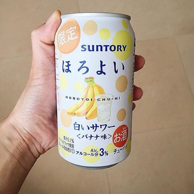 7-11 買來的#Suntory 出品#香蕉 味有氣果酒.