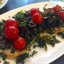 Sourdough Bruschetta With Crispy Kale