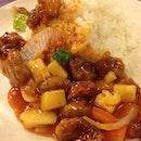 sweet & sour pork rice