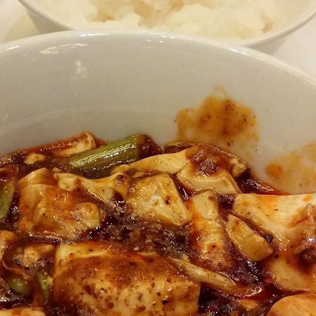 One of the best #mapotofu #tofu #beancurd with Japanese rice.