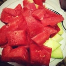 My freshy healthy #dinner #watermelon #honeydew #fruit #red #instagood #instafood #instago #instanation #intagdaily #instaaddict #instamillion #ig #igers #like4like #webstagram #statigram #instaholic #instagram #igdaily #photooftheday #picoftheday