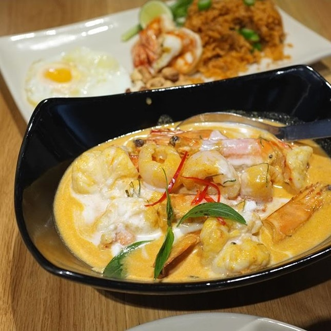 Tiger Prawn Panang Curry (S$28) @ Cha Thai.