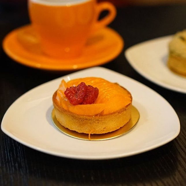Seasonal flavor, Alphonso Mango Tart at Tarte by Cheryl Koh.