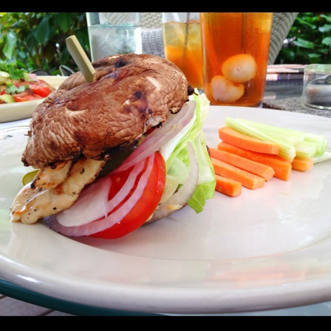 Portobello Chicken Burger