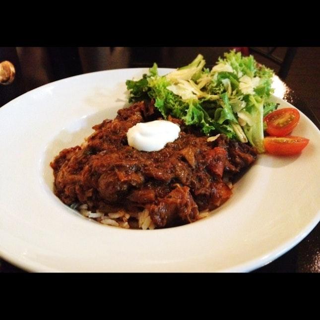 Beef Goulash on Arborio Rice