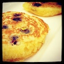Fluffy blueberry pancakes!