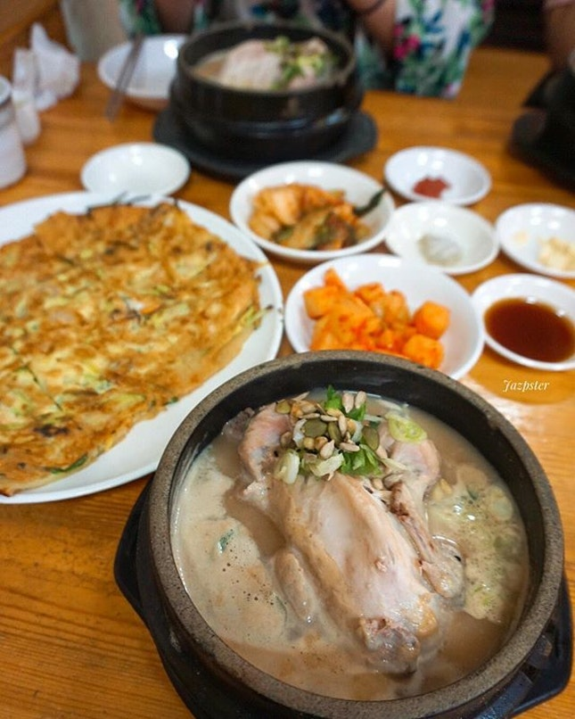Was not able to check out the temple, but managed to eat at the famed Samgyetang (Ginseng Chicken Soup) place.