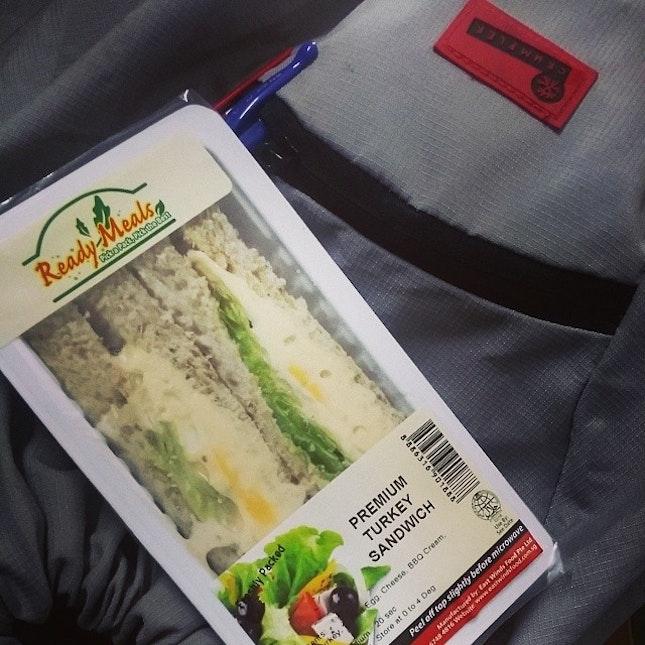 Saw my squadmate at the locker n she gave me dis #sandwich heh heh dapt barang free lagik..