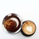 Mid afternoon #coffee and snack #burpple #foodporn #muffin #eeeeeats