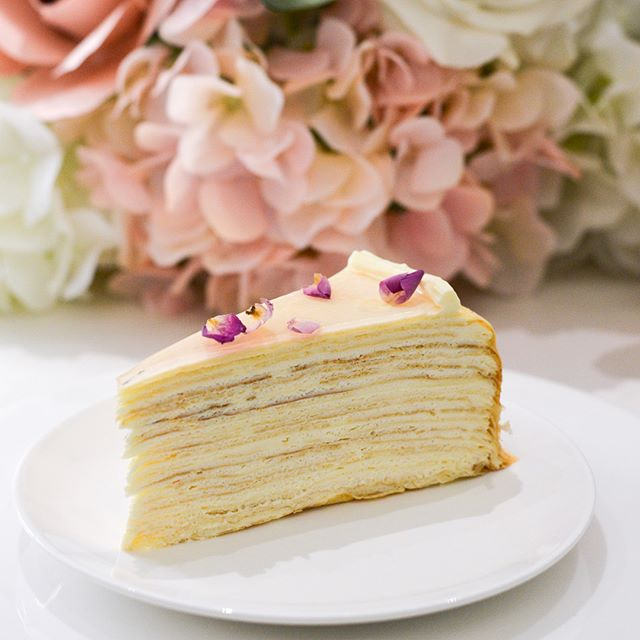 With the new opening of their 4th outlet in Singapore - @ladymsg released a new flavour that is exclusive to this newest outlet at Scotts Square, the Rose Mille Crepe ($9.50 a slice, $108 for whole).