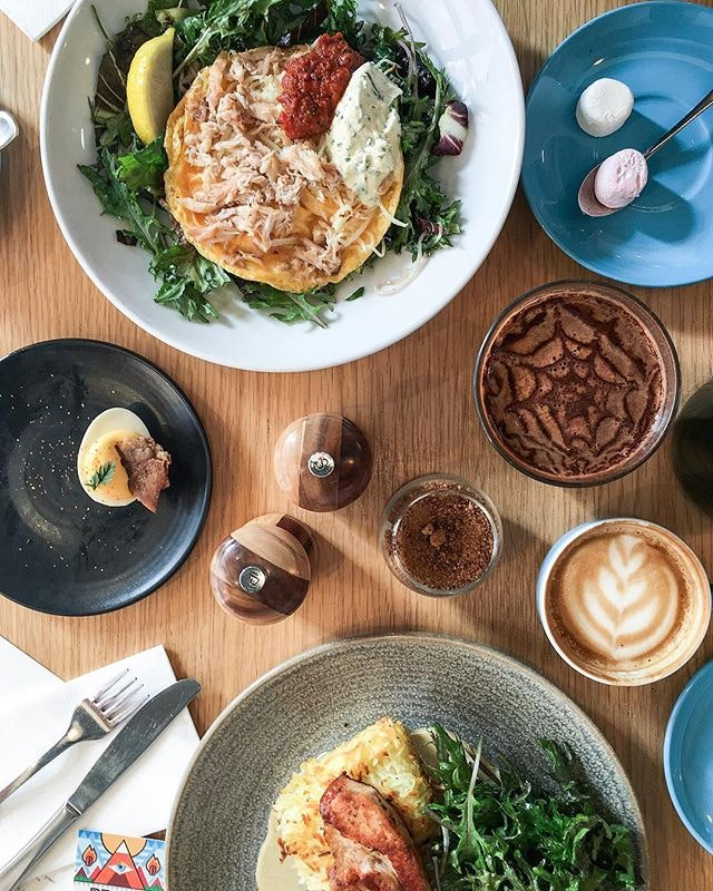 Lost count of the number of coffees, brunch food and cafes we've been to - here's @proudmarycoffee located at Fitzroy, same area as @gelatomessina.