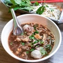 "Favourite Thai Beef Noodles Soup ($5) in Singapore - really ""gao"" (thick) broth that's good for the recent chilly weather."