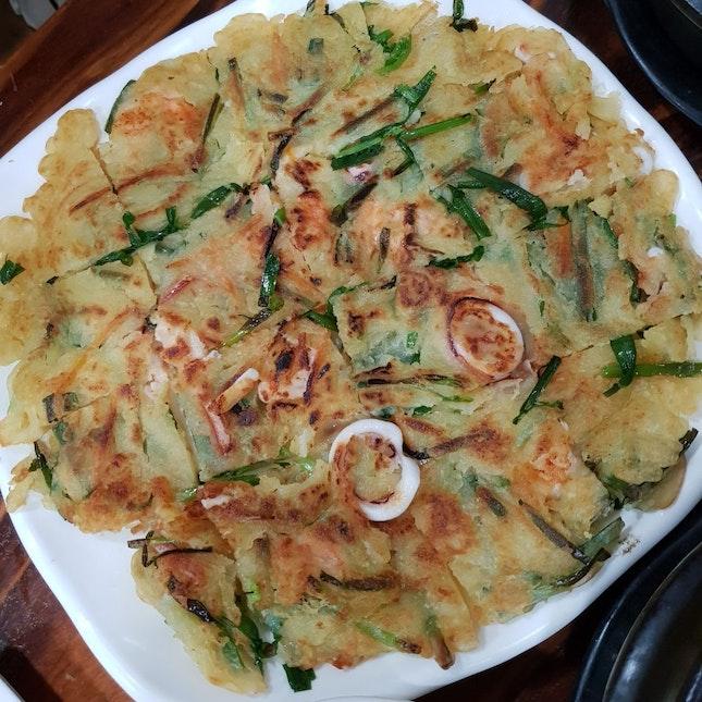 Seafood Leek Pancake