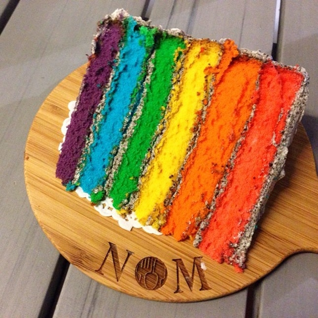 Finally a decent rainbow cake ($7.90) from #NOM!