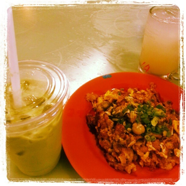 Mr Avodaco's Avocado juice n  shun li fried oyster