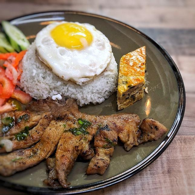 Broken Rice with BBQ Pork Chop $11