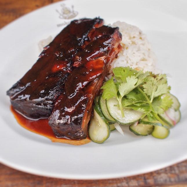 Charsiew Pork Ribs Rice $10