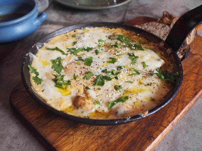 Barramundi Baked Eggs $24