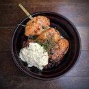 Big Tsukune & Nanban Don Set Lunch $15